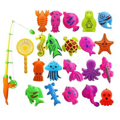 22Pcs Baby Educational Fish Game Magnetic Fishing Rod Fish Model Kids Toy