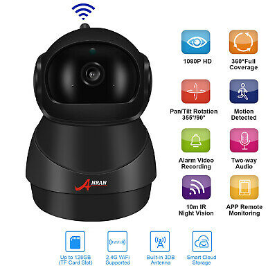 ANRAN 4CH 2MP HD NVR Outdoor 960p WiFi Wireless Camera CCTV Home Security System