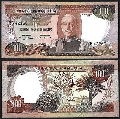 Angola P101***100 Escudos***nd 1972***unc Gem***look Super Scan