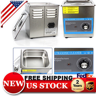 2L Stainless Steel  Ultrasonic Cleaner Cleaning Machine With Mechanical Timer