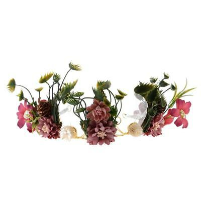 Boho Floral Crown Flower Fairy Headband Hair Garland Wedding Bride Headpiece