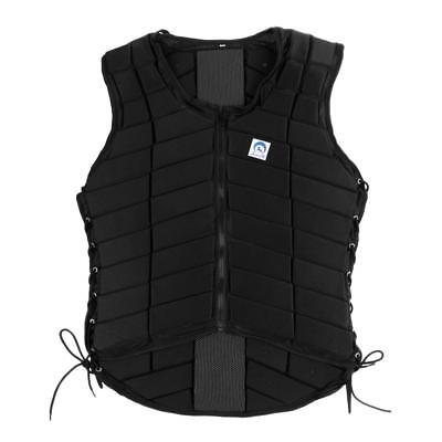 Safety EVA Padded Adult Men's Equestrian Vest Horse Riding Body Protector L