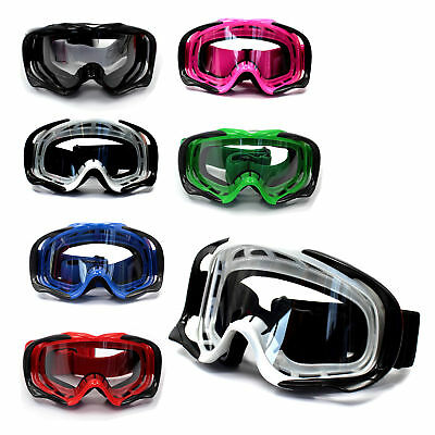 Adult MX Goggles *anti-fog* UV protection *Clear* Dirt Bike Gear Motocross MX