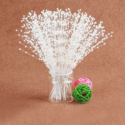 100x Bridal Pearl Spray White Beads on Wire Stems Wedding Favors DIY Craft