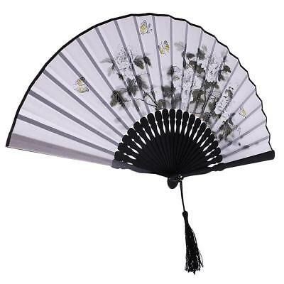 Bamboo Silk Chinese Japanese Hand Held Foldable Fan Wedding Party Decors #6