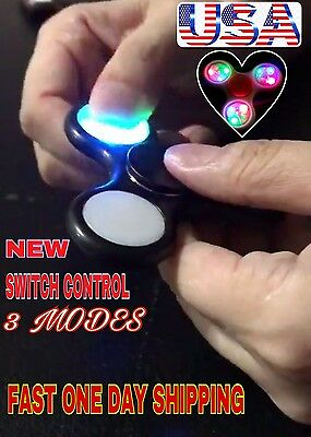 New Switch Control Led Spinner Fidget 3 Modes Flashing,lighting Colors