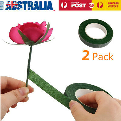 2 Rolls Self Adhesive Florist Floral Tape DIY Craft Supply 12MM *30Yards