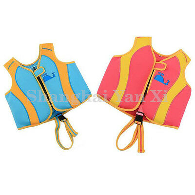 kids toddler baby neoprene life jacket swim suit vests buoyancy aid 1 to 3 YRS