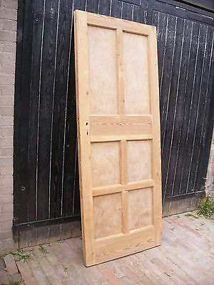 Large reclaimed, period stripped pine six panel door.