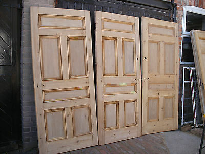 Excellent, large, reclaimed, Victorian 6 panel, stripped pine doors