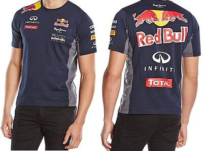 T-SHIRT Tee Infiniti Red Bull Racing Teamline Formula One 1 F1 Pepe NEW!