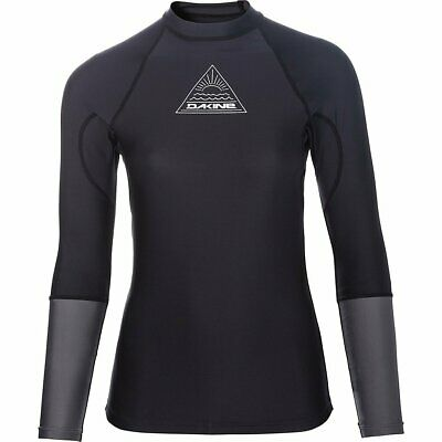 Dakine FLOW Damen Lycra Rash Guard Surfshirt Longsleeve Black
