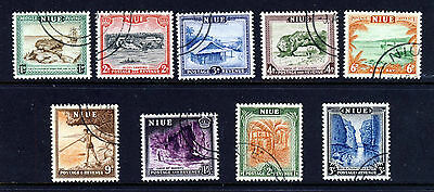 NIUE King George VI 1950 The Pictorial Part Set SG 114 to SG 122 VFU
