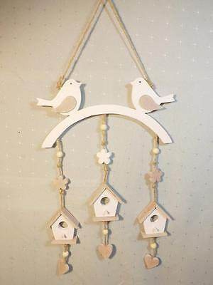 WALL HANGING CUTE BIRDS with WOODEN  HOUSES  HOME or NURSEY DECOR NEW **