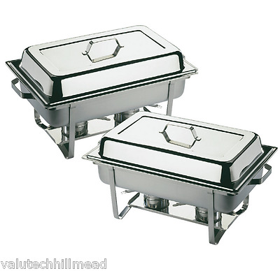 APS Twin Chafing Dish Set in Polished Stainless Steel