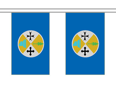 Italy Calabria Flag Bunting - 6m long with 20 Flags