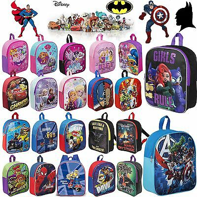 Disney Marvel Junior Backpack Kids Rucksack School Nursery Travel Bag Boys Girls