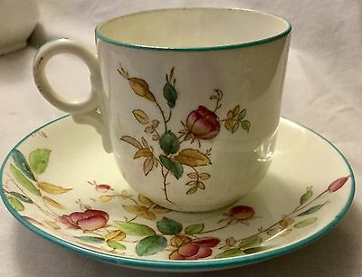 ANTIQUE 19th Century PEARLWARE  CUP & SAUCER  * RARE