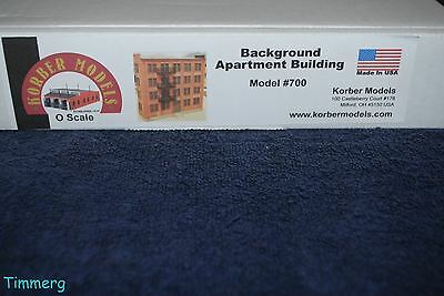 Korber Models #700 O Scale Background Apartment Building MIB **