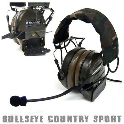 Z-Tactical Airsoft Comtac 1 2 Way Radio Headset Active Sound Protection Z054