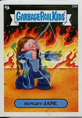 Garbage Pails Kids 2014 Series 1 Base Card 35b HUNGRY JANE
