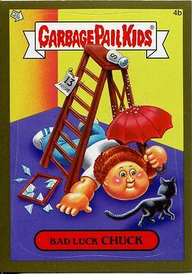 Garbage Pails Kids 2014 Series 1 Gold Parallel Base Card 4b BAD LUCK CHUCK