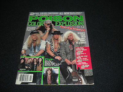 Poison Color Explosion & Other Metal Groups 1990 Magazine