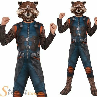Boys Rocket Raccoon Costume Guardians Of The Galaxy 2 Fancy Dress Outfit