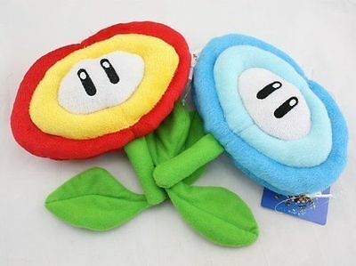 Super Mario Bros Fire Flower & Ice Flower Plush Doll Soft Toy Nintendo 2pcs