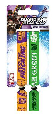 Guardians Of The Galaxy Pack Of 2 Fabric Festival Wristbands BY PYRAMID 680028
