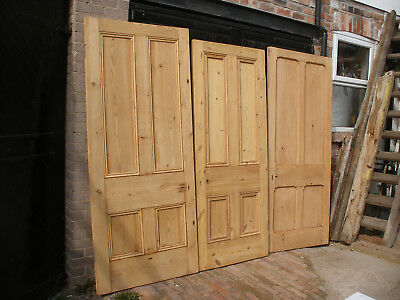 Reclaimed, very large Victorian or Edwardian 4 panel doors.