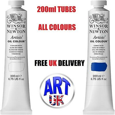 Winsor & Newton Professional Quality Artists Oil Colour Paint 200ml Tubes