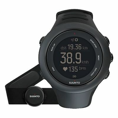 Suunto Ambit3 Sport Black HR GPS Running Heart Rate MultiSport Watch SS020678000