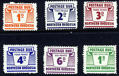 NORTHERN RHODESIA 1963 POSTAGE DUES The Full Set  SG D5 to SG D10 MINT