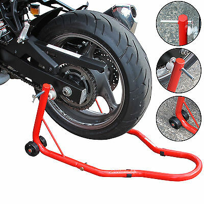 REAR Paddock Stand Motorcycle Bike Motorbike Track Garage Hook Lift For Bobbins
