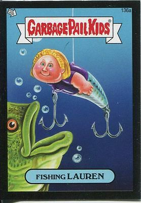Garbage Pail Kids Mini Cards 2013 Black Parallel Base Card 136a Fishing LAUREN