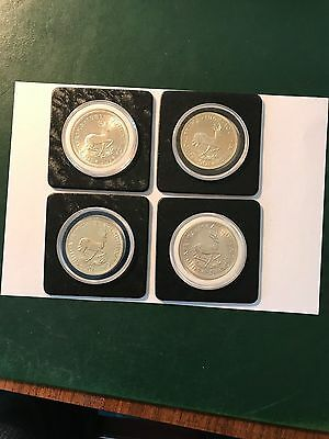 South Africa Silver proof 50 Cent 61,62,63, 64, 4 pieces total