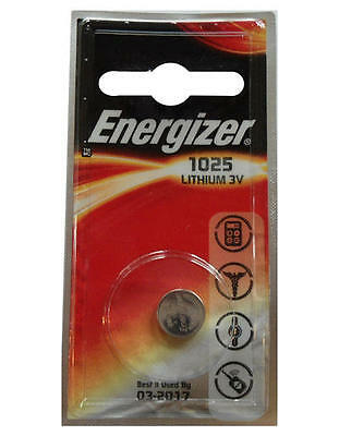 1x Energize CR1025 3V Lithium Battery Button Coin Cell DL1025 Key Fobs Watch Toy