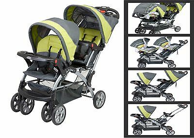 Baby Stroller For Two Child Twins Girls Boys Double 2 Infant Kids Travel System