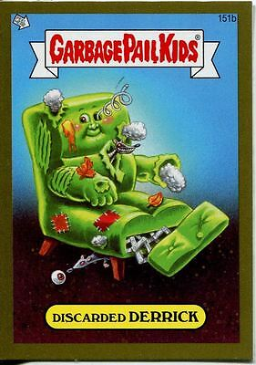 Garbage Pail Kids Mini Cards 2013 Gold Parallel Base Card 151b Discarded DERRICK