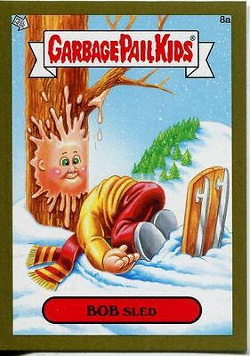 Garbage Pail Kids Mini Cards 2013 Gold Parallel Base Card 8a BOB Sled