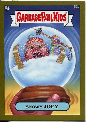 Garbage Pail Kids Mini Cards 2013 Gold Parallel Base Card 52a Snowy JOEY