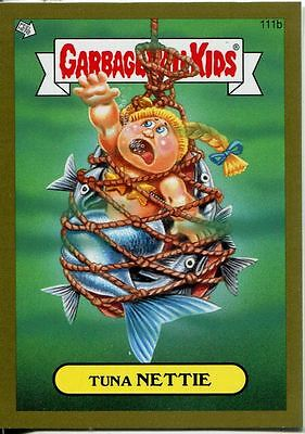 Garbage Pail Kids Mini Cards 2013 Gold Parallel Base Card 111b Tuna NETTIE