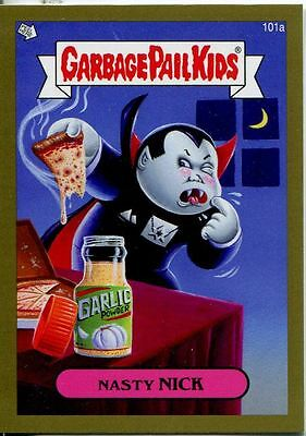 Garbage Pail Kids Mini Cards 2013 Gold Parallel Base Card 101a Nasty NICK