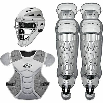 Rawlings Catchers Set Velo Series Protective Gear, White/Silver, Ages 12 & under