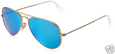 RAY-BAN RB 3025 112/17  Gr.58 - 62mm AVIATOR Blau  Flash