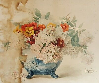 Antique 1898 French Painting Paul De Long Pre Chinese Export Pot Hollywood Ca