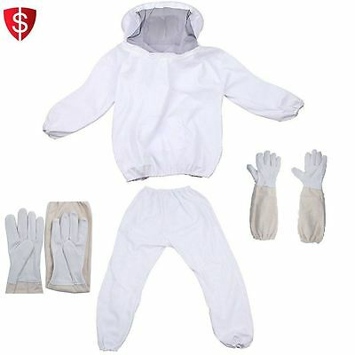 Bee Keeper Suit Professional Beekeeping Jacket Gloves Pants Smock Protective