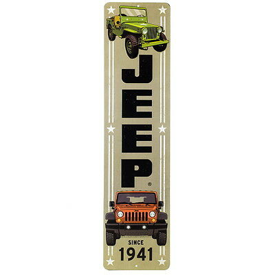 Jeep Since 1941 Embossed Tin Sign Vintage Style Garage Decor Distressed 5 x 20