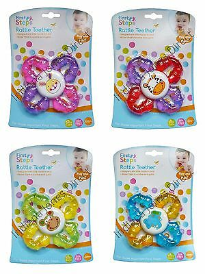 Baby Toy Rattle Teether Hard Gums Grip Water Filled Bpa Free 6 Months Animals